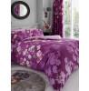 Juego de funda nórdica y funda de almohada tamaño king Roseanne con diseño floral - Púrpura