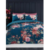 Flora King Size Duvet Cover and Pillowcase Set - Teal