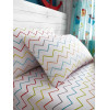 Zig Zag Multi Single Fitted Sheet and Pillowcase Set