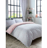 Metro Prism Blush / Grey Triangle Lined Curtains