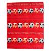 Football Fleece Blanket Throw - Red