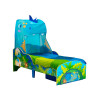 Dinosaur Toddler Bed with Mattress Storage and Canopy