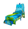 Dinosaur Toddler Bed with Storage and Removable Canopy