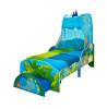 Cama Dinosaur para niños pequeños con cajón de almacenamiento y dosel más colchón con muelles