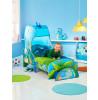 Dinosaur Toddler Bed con tenda di stoccaggio e baldacchino più materasso completamente a molle