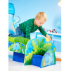 Dinosaur Junior Toddler Bed with Storage and Canopy plus Foam Mattress