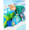 Dinosaur Toddler Bed with Storage e Bed Tent Canopy plus Deluxe Materasso in schiuma