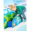 Cama Dinosaur Junior para niños pequeños con almacenamiento y dosel más colchón con muelles