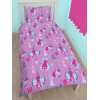 Trolls Glow Single Duvet Cover Set - Rotary Design pink