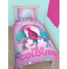 Trolls Glow Single Panel Duvet Cover and Pillowcase Set