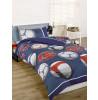 Juego de funda de almohada y funda de almohada doble de fútbol - Azul