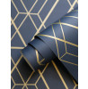 WOW003 Metro Diamond Geometric Wallpaper Navy Blue and Gold