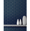 Geometric Metro Prism Triangle Wallpaper Navy and Gold WOW008
