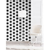 Big Dots Polka Dot Wallpaper Black / White A617 CAO 2