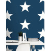 Star Wallpaper White on Navy - World of Wallpaper 273471