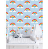 Rainbow Nursery Wallpaper
