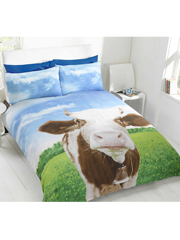 Price Right Home Daisy Cow Double Duvet Cover & Pillowcase Set