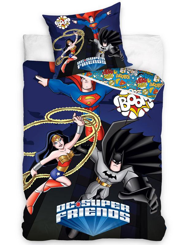 DC Super Friends Superheroes Single Duvet Cover Set - European Size