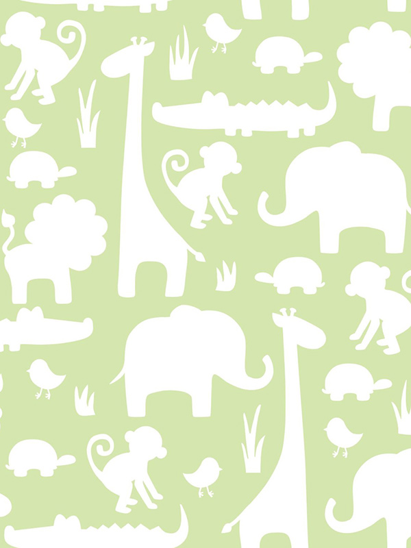 nuwallpaper its a jungle in here peel and stick wallpaper green fine