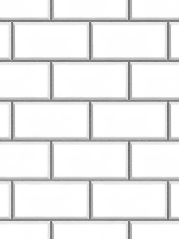 subway tile effect wallpaper white fine decor fd40136