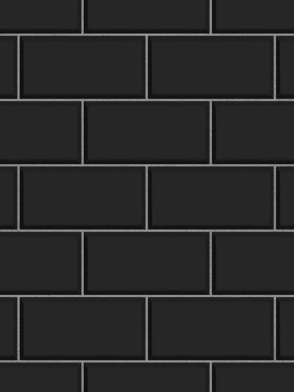 subway tile effect wallpaper black fine decor fd40137