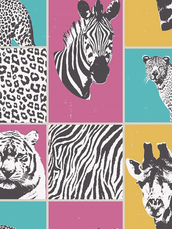 Price Right Home Safari Animals Wallpaper Multi Fine Decor FD41917