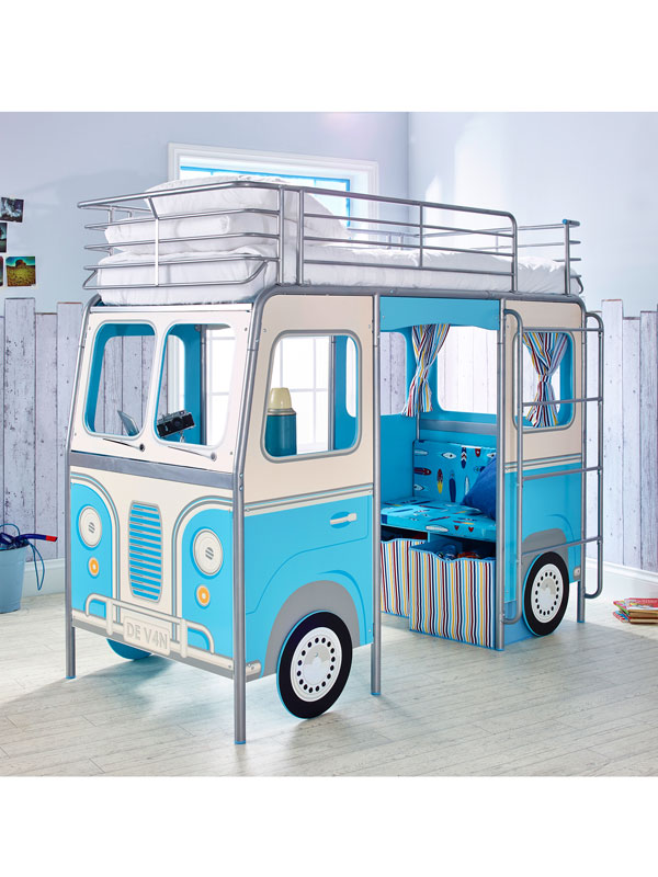 DeVan Mid Sleeper Single Camper Van Bed Blue