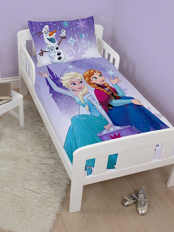 disney frozen snowflake junior toddler duvet cover and pillowcase set