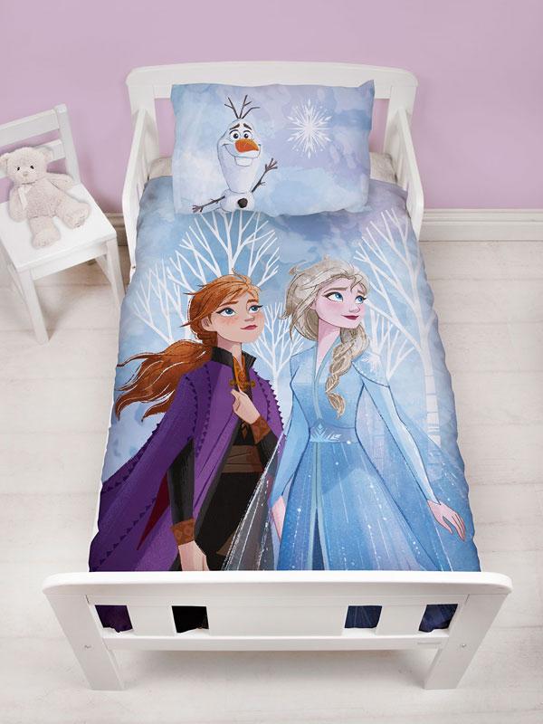 Disney Frozen Element 4 in 1 Junior Bedding Bundle Set (Duvet, Pillow