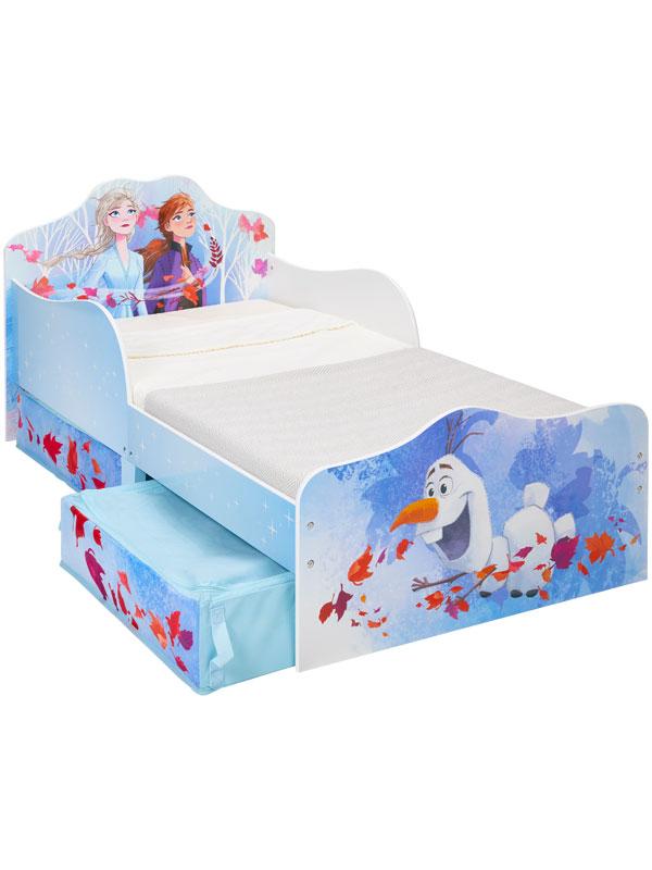 Disney Frozen 2 Toddler Bed with Sprung Mattress and Storage