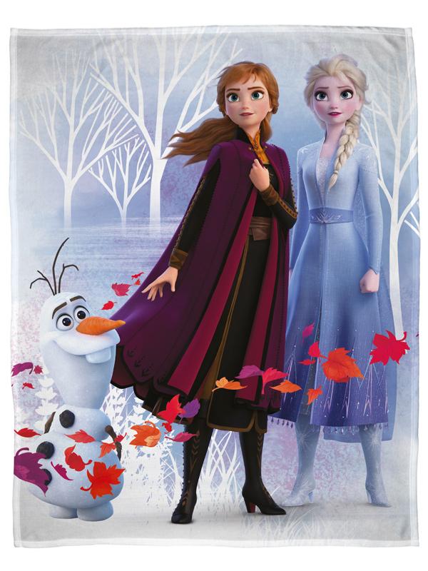 Disney Frozen 2 Leaves Fleece Blanket