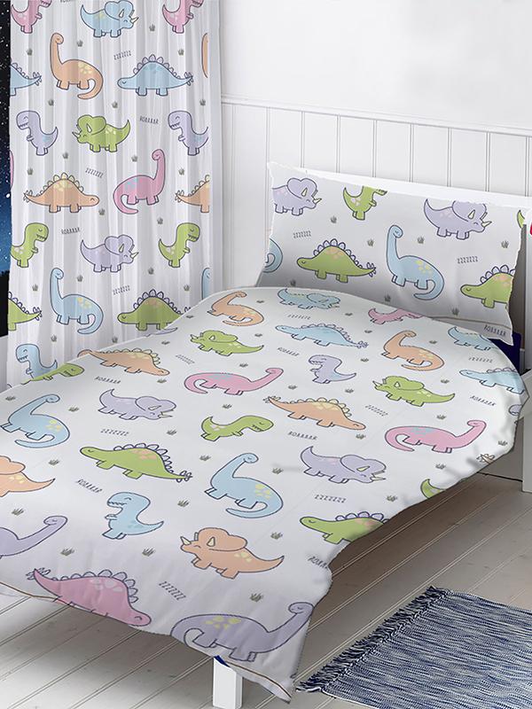 dinosaurs junior toddler duvet cover and pillowcase set