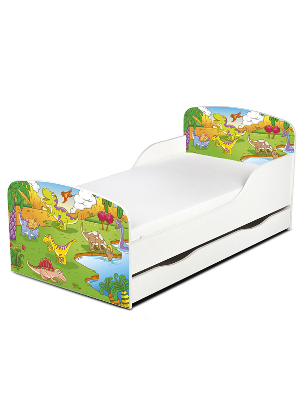 PriceRightHome Dinosaur Toddler Bed with Underbed Storage plus Fully