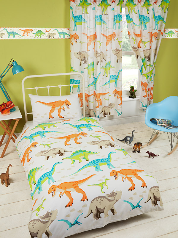 dinosaur world junior toddler duvet cover and pillowcase set