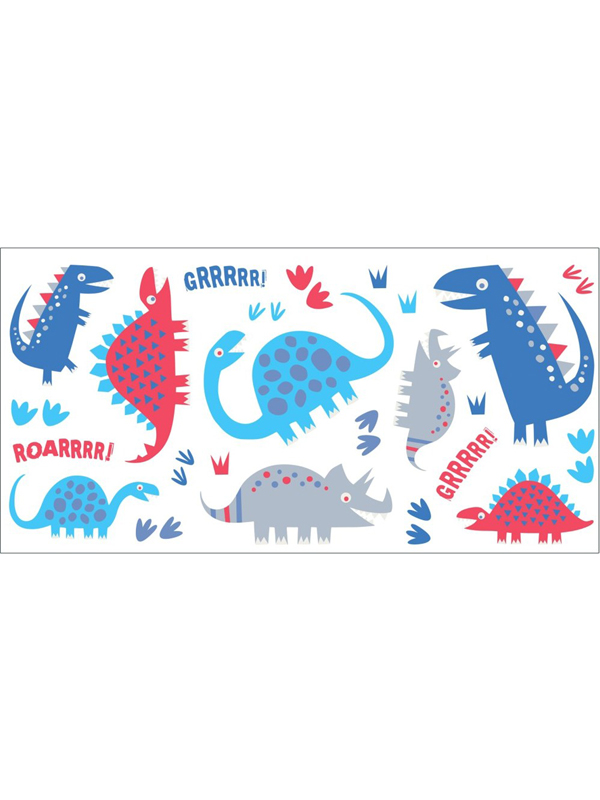 dinosaurs wall stickers  24 pieces