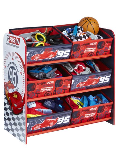 Disney Cars 6 Bin Storage Unit