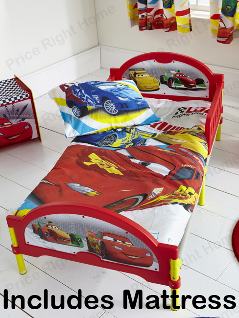 Disney Cars Cosytime Toddler Bed and Fully Sprung Mattress