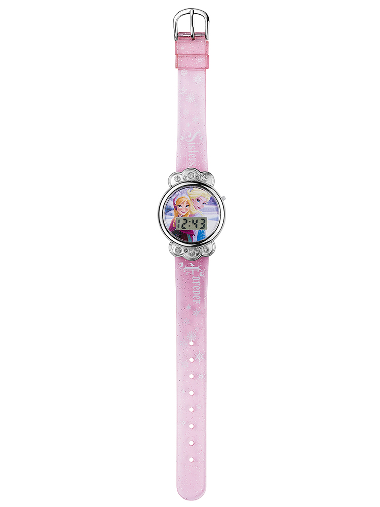 Disney Frozen LCD Pale Pink Watch