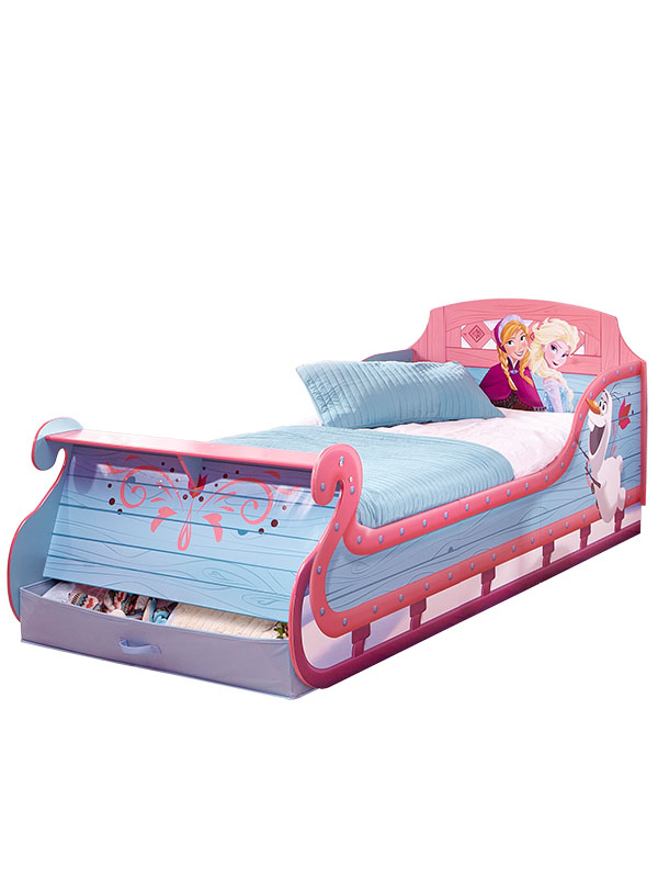 Disney Frozen Single Sleigh Bed with Underbed Storage