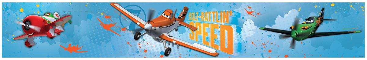 Disney Planes Bolt Rattlin Speed Self Adhesive Wallpaper Border 5m