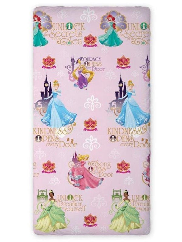 Disney Princess Castle Single Fitted Sheet