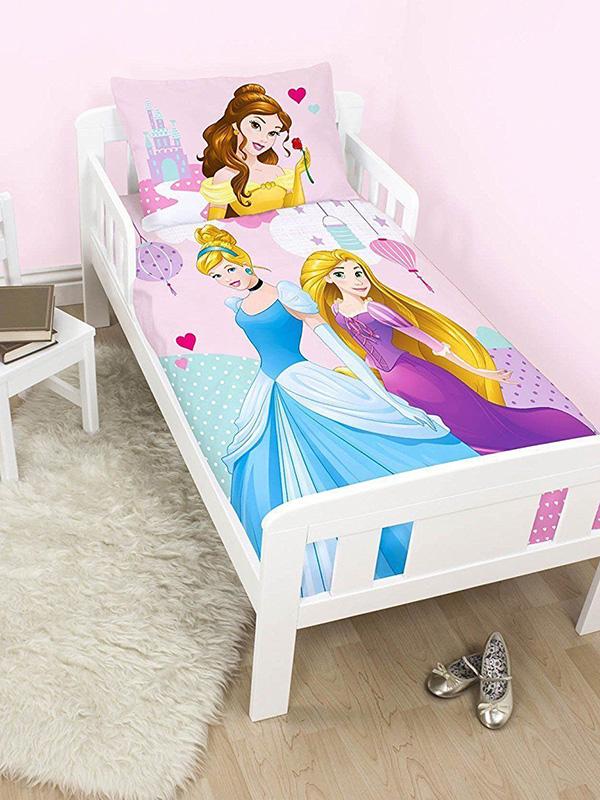 disney princess enchanting junior toddler duvet cover and pillowcase set