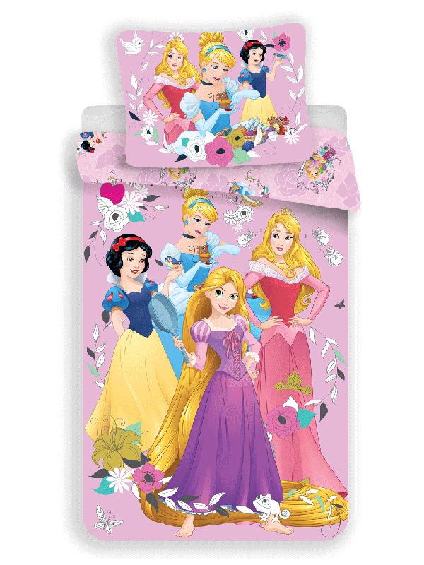 Disney Princess Pink Single Cotton Duvet Cover and Pillowcase Set -