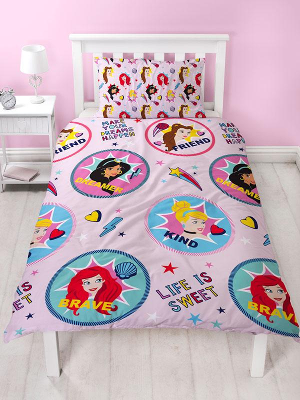 Disney Princess Fearless Single Duvet Cover and Pillowcase Set