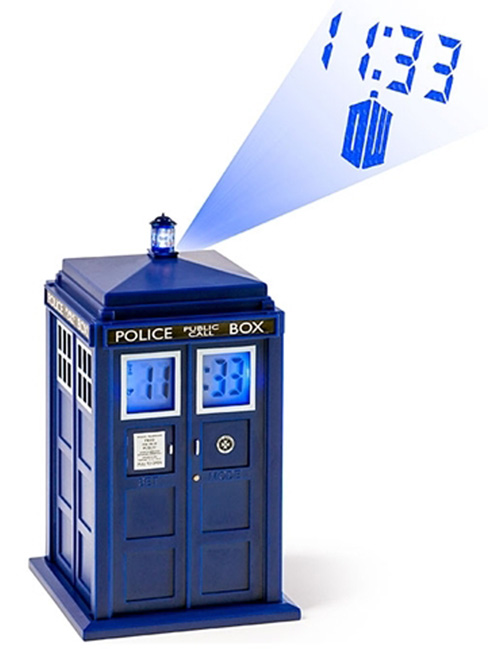 Dr Who Tardis Projection Alarm Clock