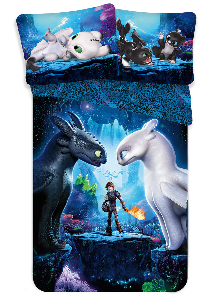 How to Train Your Dragon Single Cotton Duvet Cover - European size