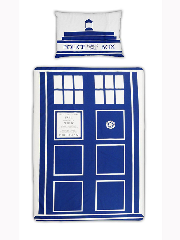 Doctor Who Tardis Single Duvet and Pillowcase Set