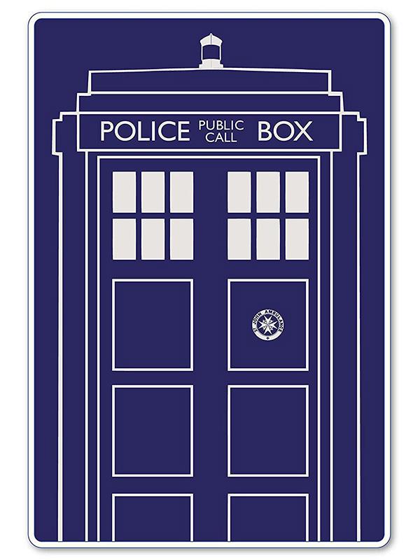 Doctor Who Tardis Fleece Blanket