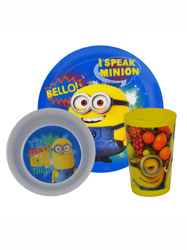 Despicable Me Minions Tumbler Bowl and Plate Dinnerware Set