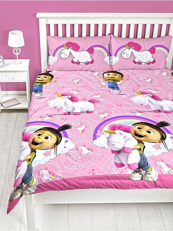 Despicable Me Daydream Fluffy Unicorn Double Duvet Cover Set
